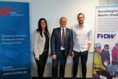 Inga Knoche, Prof. Dr. Jensen und Michael Bormann sind Sprecher beim Meeting Mittelstand