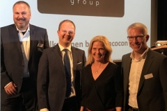 Jovan Ilic, Nico Lüdemann, Kerstin von der Linden und Mark Schönrock beim Kinoforum 2019